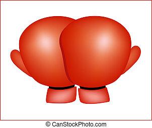 boxing gloves - Illustration of boxing gloves