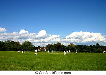 Village cricket - English village cricket match