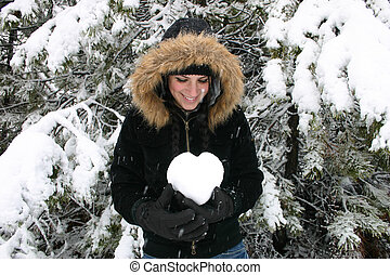 Young Woman\\\'s Heart
