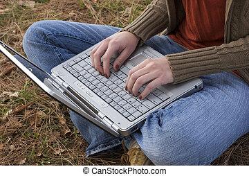 ordinateur portable, informatique
