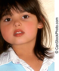 Childlike Softness - Face of a beautiful little girl
