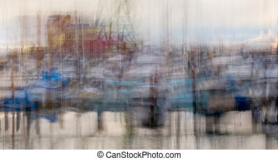 West Mooring Basin, Impressionistic - Impressionist photo of...
