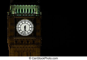 big ben - Houses of parliament and big ben at night, London,...