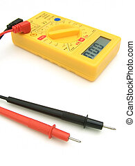 Digital Multimeter 02 - A yellow multimeter with...