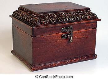Locked casket - Vintage-looking locked casket