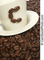 C for Coffee - Coffee on beans with C