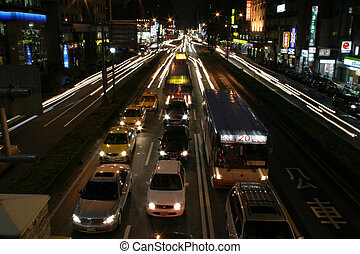 Cars and Movement - Several cars in Taipei waiting in...