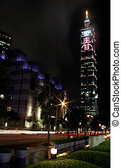 Taipei 101 at Night - The tallest building in the world...