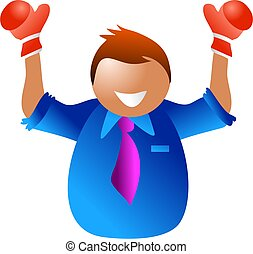 business champion - happy man champion in business - icon...