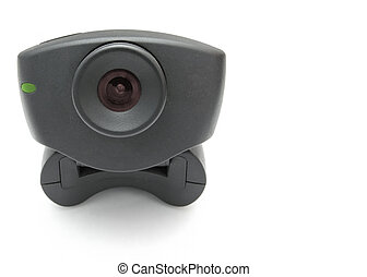Black Webcam - A black USB Internet Webcam with red lens and...