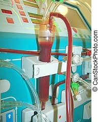 bubble trap - venous bubble trap of dialysis monitor