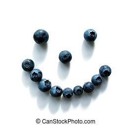 Blueberry smiley face - Smiley face made out of blueberries...