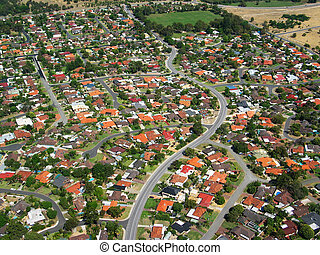 Aerial Photo 2 - Aerial Photo of a small town