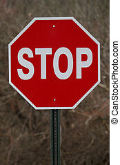 Stop Sign - Straight View of Stop Sign