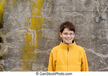 Boy in Fleece Pullover - Photo of Boy in Fleece Pullover on...