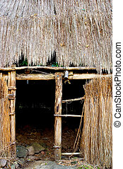 Entrance to a Kauhale--traditional Hawaiian living site -...