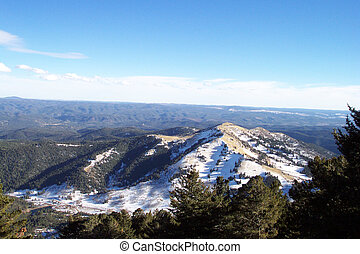 Ruidoso, New Mexico Skyline - The beautiful snow-capped...