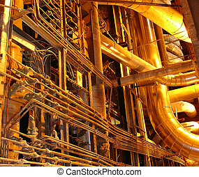 golden pipes - power plant