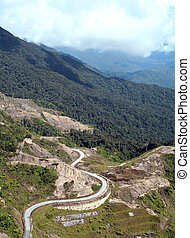 Winding Road - A long and winding road up the tropical...