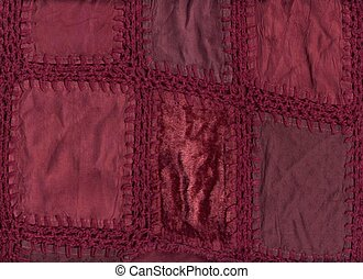 Patchwork - Burgundy patchwork background