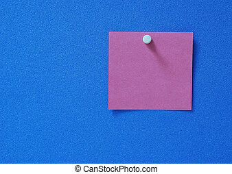Blank post-it - A blank purple purple post-it on blue...