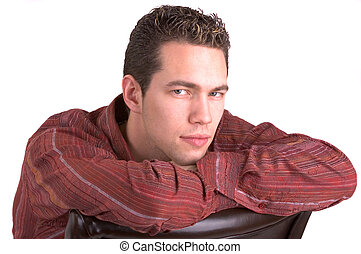 Young Man - Handsome Young Man Relaxing (Isolated)
