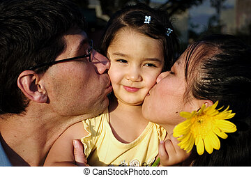 Happy Family - Diversity in happy young family