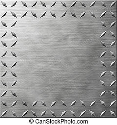 Diamond Plate Texture with Copy Space