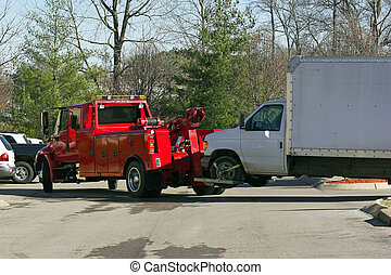 wrecker - Heavy duty wrecker hauling a truck that broke down...