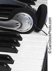 Piano, hörlurar