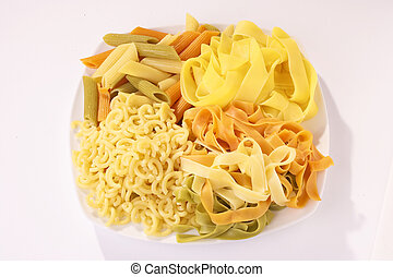 colored Noodles - farbige Nudeln - diferent colored Noodles...