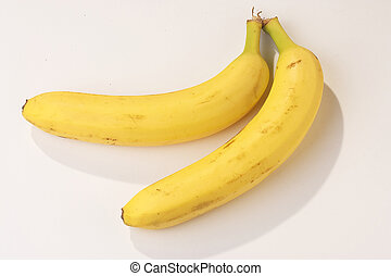 Bananas - Bananen - two bananas on white background - zwei...