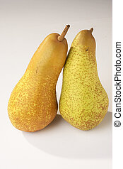 Pears - Birnen - two Pears on white Background - zwei Birnen...