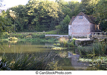 The Water Mill - A watermill in the Dorset countryside,...