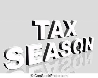 Tax season. - 3D illustration, wallpaper, background...