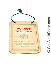 Do not Disturb sign from the 1920