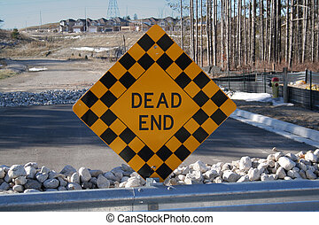 Dead End Sign at the end of the road