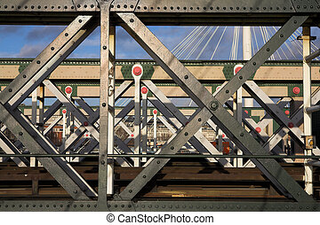 Bridge 1 - The Charring cross railway bridge girders