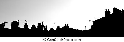 London Skyline #1 - Cutout of the London Skyline - Suburbs