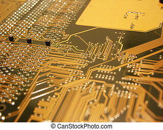 Computer Mainboard - A shot of the back side of a new dual...