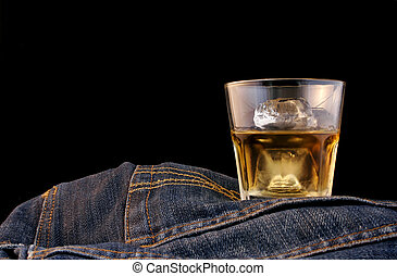 Bourbon and Denim - Bourbon on the rocks and denim with...