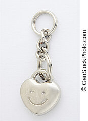 Key fob - Schlüsselanhänger - heartshaped Key fob on white...
