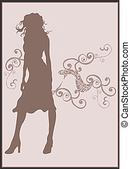 Silhouette - A vector illustration of a female silhouette