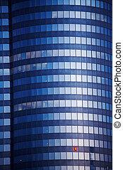 Skyscraper - Wolkenkratzer - blue Skyscraper - blauer...