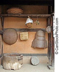 Life in the olden days - Traditional Korean house at Suwon...