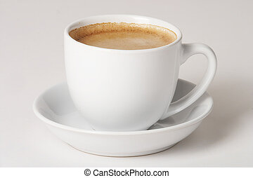 Coffee - Kaffee - Cup of coffee on white Background - eine...