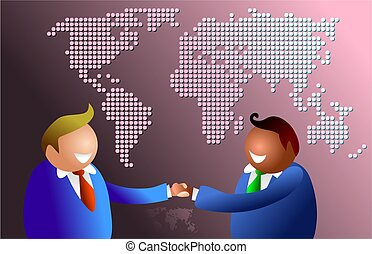 world handshake - business people around the world shaking...