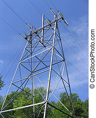 Power line tower - , a power line tower
