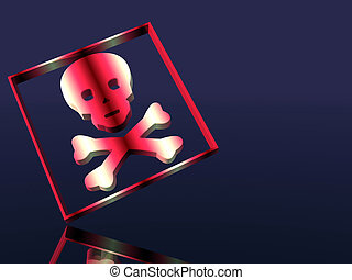 Alert sign, Toxic, poison - 3D illustration, wallpaper,...
