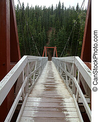 bridge - Bridge over the river Yukon in Whitehorse.